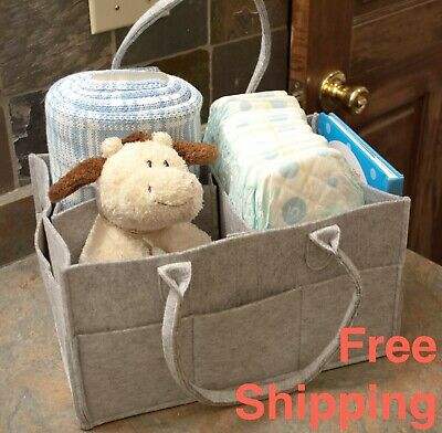 Premium 'Majestic Baby' Diaper Caddy Organizer Bag – Unisex (Ships from USA)
