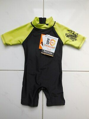 Baby Boys Upf 50+ Rash Unitard Bathers Swimsuit Swimwear Size 0 Fit 6-12Mth *New