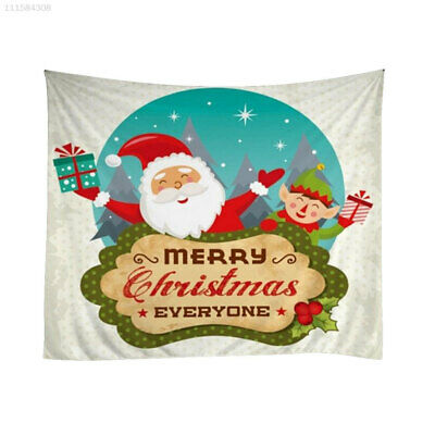 0CAF Polyester Xams Decor Wall Hanging Blanket Tapestry Christmas Tapestry