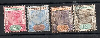 Seychelles QV 1890-1893 used collection WS14233