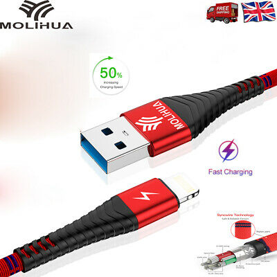 0.5/1.2/2 m Fast Charging Cord USB Data Sync Charger 2.4A for iPhone iPad Apple