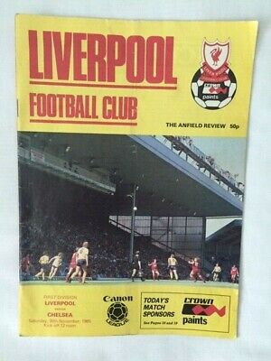 Liverpool Football Programme 1985 v Chelsea Division One 30th November