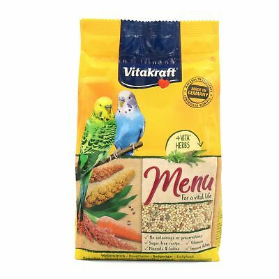 Vitakraft Premium Budgie Menu Food Vitamin Bird Budgerigar Millet Seed Diet 500g