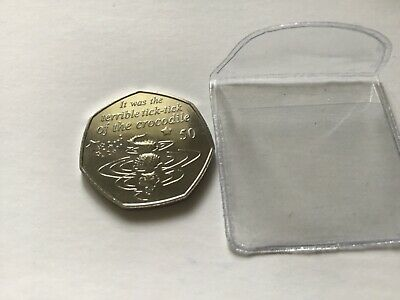 2019 Peter Pan 50p Isle Of Man in Wallet CROCODILE coin IN HAND  50p