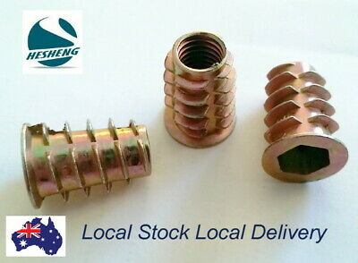 M4 M5 M6 M8 Wood Threaded Flange Inserts Nuts Zinc Plated Steel Alloy Insert Nut