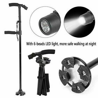 Venerate - Self Standing Foldable Walking Cane With 6 Led Lights!