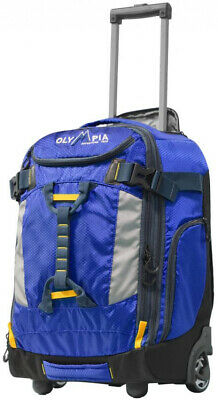 OLYMPIA USA 20 in. Rolling Carry-On Carry-On with Hideaway Backpack Straps, Blue