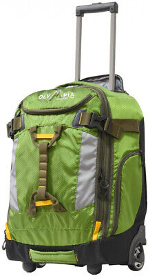 OLYMPIA USA 20 in. Rolling Carry-On Carry-On w/ Hideaway Backpack Straps, Green