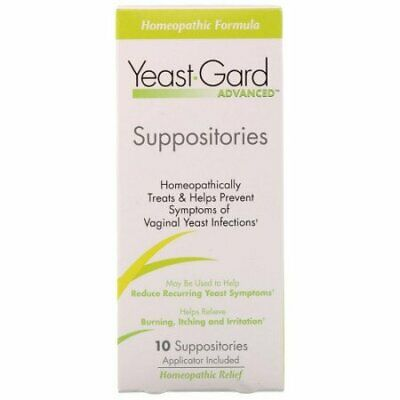 Yeast-Gard Women's Advanced Homeopathic Formula Suppositories 10 Ea (Pack of 24)