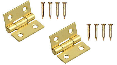 12mm Butt Hinge 12mm Hinges Set Of Two Pressed Hinges & Pins 5470 Dolls House