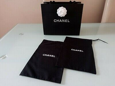 New x2 CHANEL storage dust cover shoes bag  31Lx20W cm