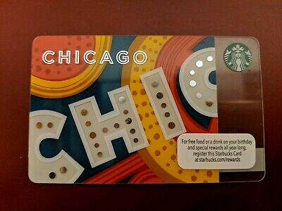 Starbucks Gift Card Chicago Theatre No Value Unswiped Mint