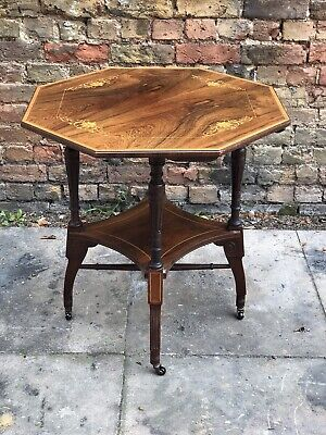 Aesthetic Movement Inlaid Rosewood Occasional Table. Poss Lamb Of Manchester