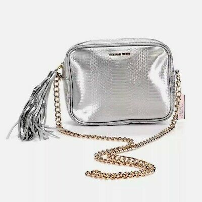 f3a49fff6e1 NEW GENUINE VICTORIA'S SECRET Silver Gold Cross-Body Handbag ...