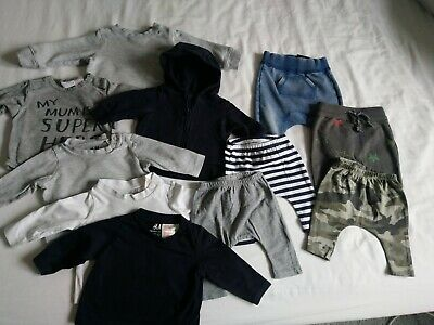 Baby Boy H&M And Other Clothes Bundle Up To 1 Month  20 Items
