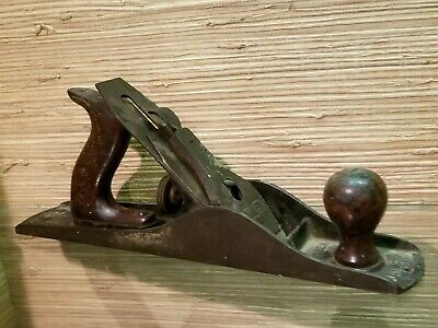 Antique Stanley Bailey No. 5 Woodworking Plane corrugated bottom vintage vtg