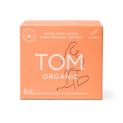 TOM Organic Cotton Individually Wrapped Ultra Thin Panty Liners 26pack