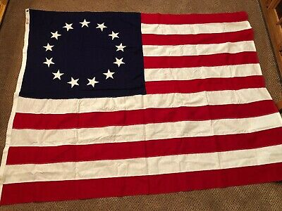 "USA Betsy Ross Flag 53"" X 64"" Was Only Used For One Week."