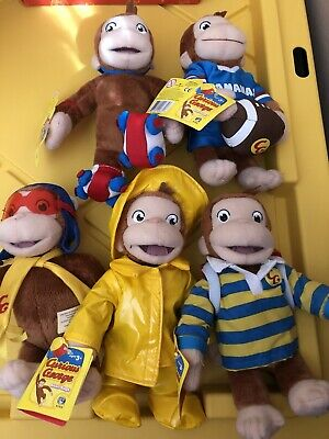 Curious George Bean Bag Plush Set Of 5