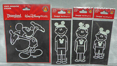 Disney Parks Mickey Mouse Ears Family DAD MOM SON Car Vinyl Window Stickers