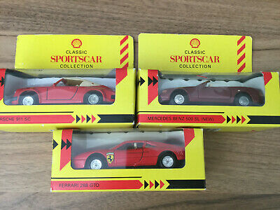 3 X Shell Classic Sports Car Collection Model Cars. Toys. Collectables.