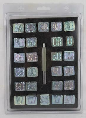 "Hobby Lobby 3/4"" Alphabet Leather Stamps Set NIP"