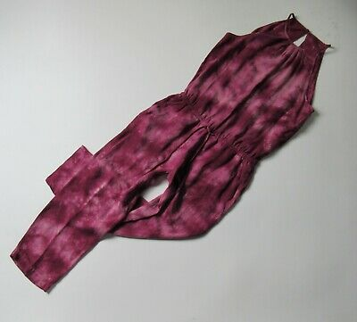 NWoT Anthropologie Cloth & Stone Maroon Tie Dye Sleeveless Cropped Jumpsuit XS
