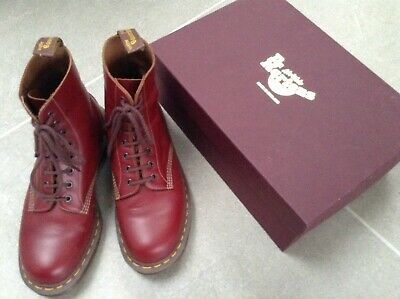 Made In England Dr. Martens 1460 Cherry Red Oxblood Boots Size 8 Euro 42