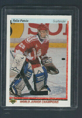 1990-91 Upper Deck # 458 Rookie Felix Potvin Team Canada World Junior Champions