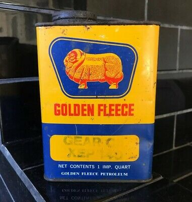 Golden Fleece 1 Quart Vintage Duo Gear Oil Tin