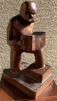 """Louise Nevelson's Son Myron Nevelson Original 1944 Wood Carving -Rare- 16"""""""