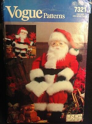 Pattern Vogue 7321 large and small Santa dolls Christmas craft
