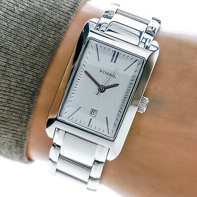Fossil Womans Watch PR5267 Silver Date Dial All Stainless Steel 30m Working