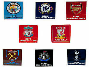 Official Football Club Home Changing room metal sign Door Bar Pub Wall Sign