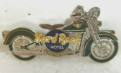 Hard Rock Hotel Pin Las Vegas Motorcycle Indian With Green Fenders