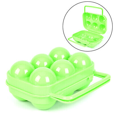 Plastic 6 Grids Portable Barbecue Outdoor Egg Box Kitchen Egg Storage Boxes HU