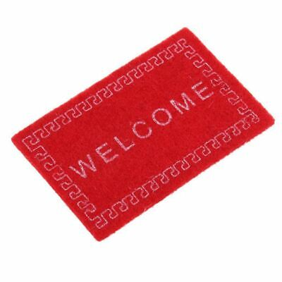 Doll House Miniature carpet WELCOME Mat Dollhouse Accessories Home & Living S9O7