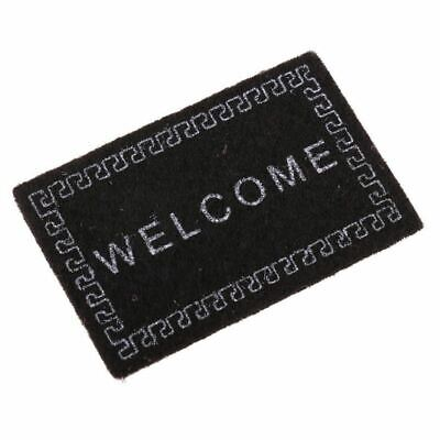 Doll House Miniature carpet WELCOME Mat Dollhouse Accessories Home & Living I8L9