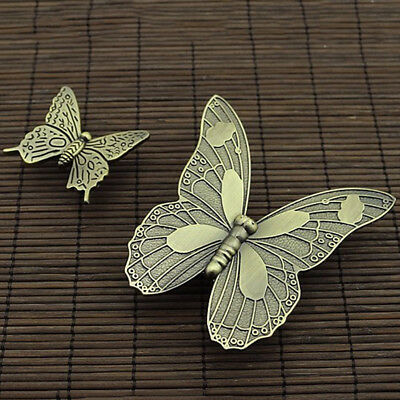 Vintage Wardrobe Door Knobs Butterfly Shape Cabinet Drawer Pulls Handle LL