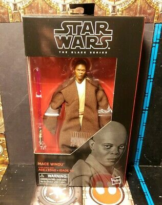 "Star Wars The Black Series Mace Windu Jedi Master #82 /""rots/"" 6/"" pulgadas de Hasbro"