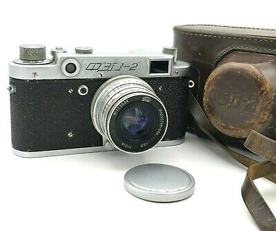 Vintage Camera FED 2 Rangefinder Lens Industar 26m F/2.8 50mm USSR Russian Film