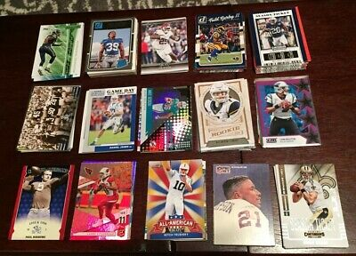 Huge Lot 175+ Base and Insert Football Cards Variety of Brands, Players, Teams