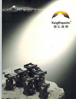 KANGRINPOCHE TRIPOD BALLHEADS CATALOG/BROCHURE (ORIGINAL PRINT/not copies)