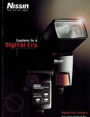 NISSIN DIGITAL FLASH LIGHT CATALOG/BROCHURE (ORIGINAL PRINT/not copies)