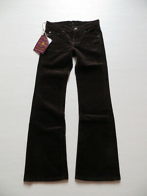 7 For All Mankind Bootcut Jeans Gr. 8, W 24 /L 26, NEU ! warme Samt Hose, USA !