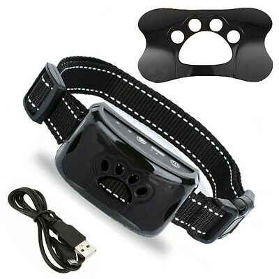 Adjustable Anti-Barking Pets Collar Dog Humane Safe Training Cat-Claw Pattern AU