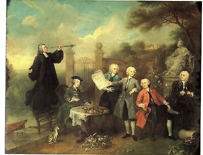 Lord Hervey and his friends by Hogarth 230gsm photo quality paper choose size