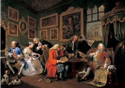 The marriage contract by Hogarth 230gsm photo quality paper or laminated
