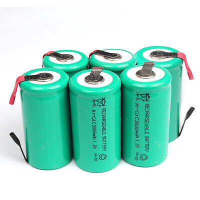 3000mAh Ni-CD C Size 1.2V Rechargeable Battery With Tab