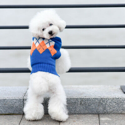 azuza Cute Dog Sweater Knitwear Dog Pullover Winter Warm Clothing Outfit